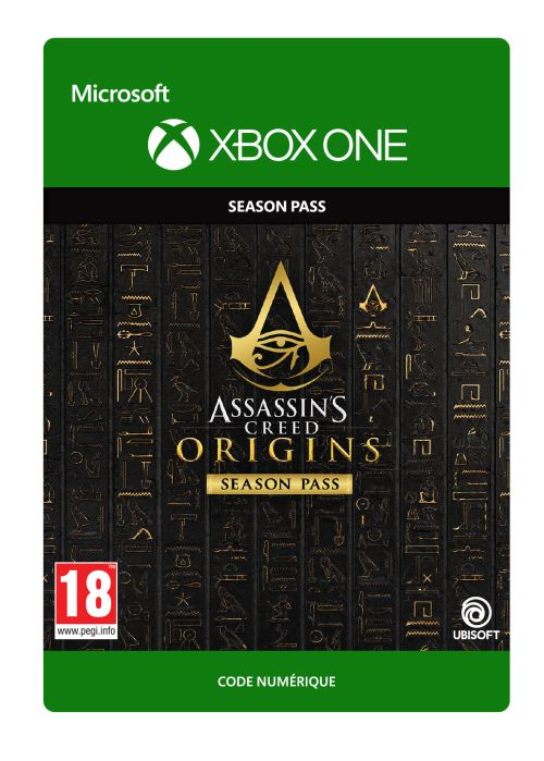 Code de télechargement Assassin's Creed Origins Season Pass Xbox One