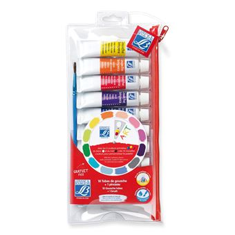 LEFCBOUR TROUSSE 10 TUBES GOUACHES 10ML