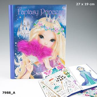 Album de coloriage top model create your fantasy princess - Album de coloriage top model ...