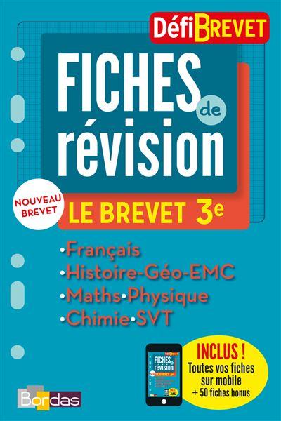 DéfiBrevet compilation, Fiches de Révision 3ème