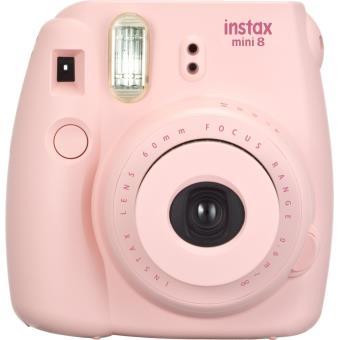 fujifilm instax mini 8 rose appareil photo instantan achat prix fnac. Black Bedroom Furniture Sets. Home Design Ideas