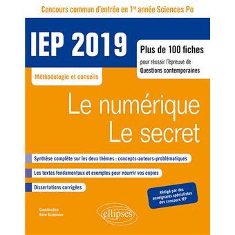 Concours commun IEP 2019 1ère année Plus de 100 fiches ...