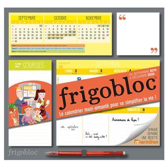 Semaine 2019 Calendrier.Frigobloc 2020 Hebdomadaire Calendrier D Organisation Familiale Semaine Sept 2019 Dec 2020