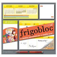 Frigobloc 2020 Hebdomadaire - Calendrier d'organisation familiale / semaine  (sept. 2019 -déc. 2020)