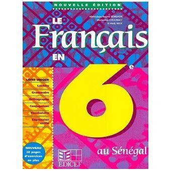 Le Francais En 6e Senegal Eleve