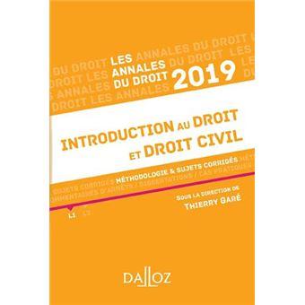 Introduction au droit et droit civil
