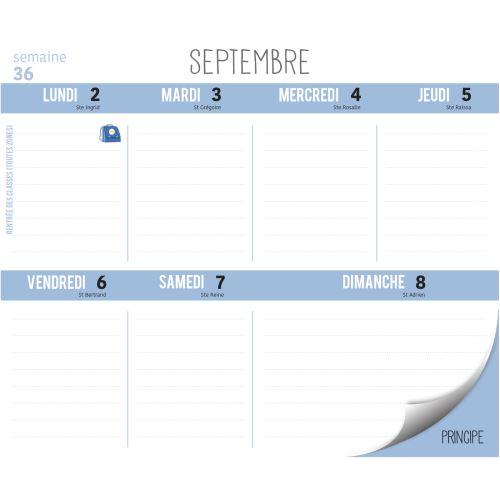 Calendrier Septembre 2020 Septembre 2019.Frigobloc Montessori 2020 Calendrier D Organisation Familiale De Sept 2019 A Decembre 2020