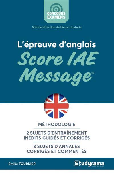 L'épreuve d'anglais au score IAE message