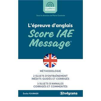 L'epreuve d'anglais au score iae message