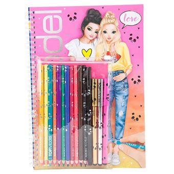 Album coloriage top model avec crayons carnet journal - Album de coloriage top model ...