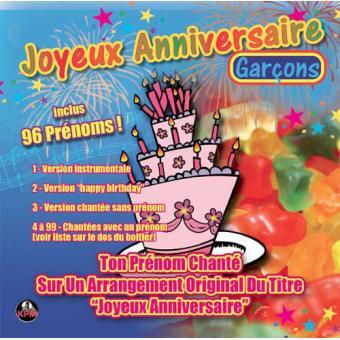 Joyeux Anniversaire Volume 1 Garcons Ambiance Cd Album Achat
