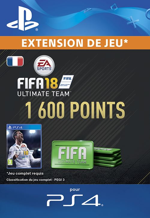 FIFA 18 Ultimate Team 1600 Points PS4 code de téléchargement