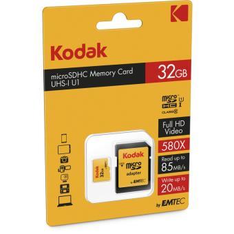 Kodak microSDHC 32GB Class 10 UHS-1 U1 met SD-adapter