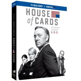 House of cardsHouse of Cards Coffret intégral des Saisons 1 à 3 Blu-ray
