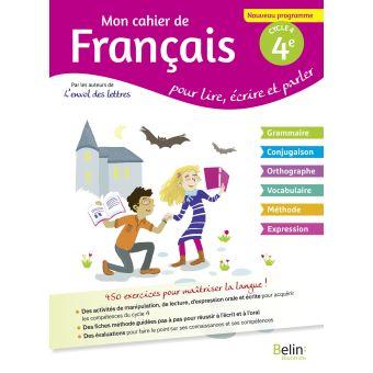 Mon Cahier De Francais 4e