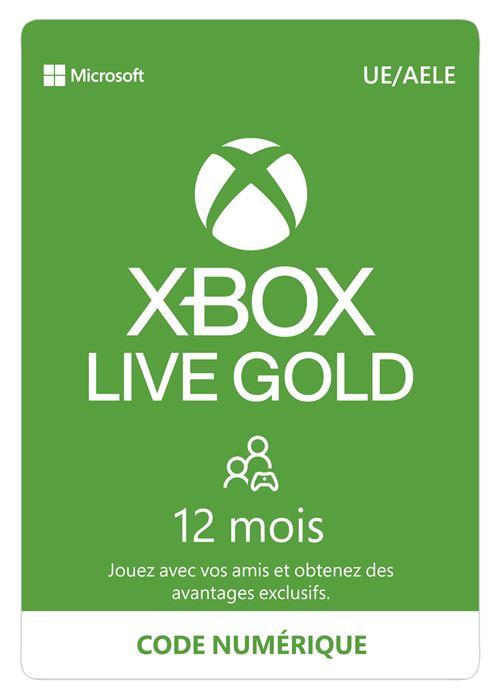 Code de téléchargement Xbox Live Gold : 12 mois d' abonnement