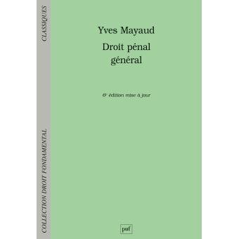 Droit Penal General Broche Yves Mayaud Achat Livre Fnac