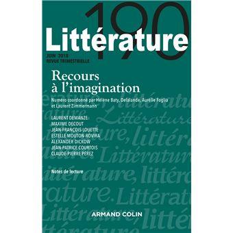 Littérature n° 190 (2/2018) Recours à l'imagination