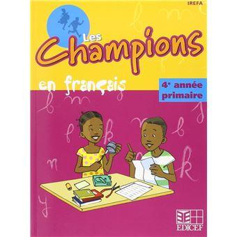 Champions En Francais Rdc 4eme Annee Eleve
