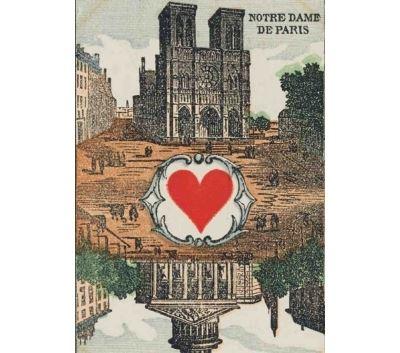 Carnet Blanc, carte à jouer, Notre-Dame-de-Paris