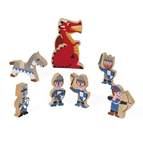 Figurines en bois Janod Mini Story Chevaliers