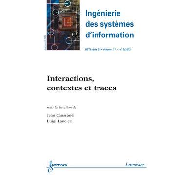 Interactions contextes et traces ingenierie des systemes d´i - Hermes Science Publications