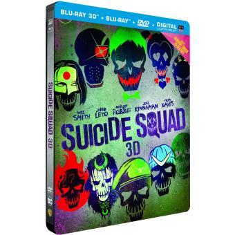 Suicide SquadSuicide Squad Steelbook Blu-Ray 3D+ 2D