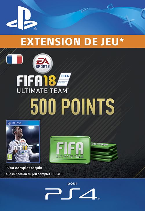 FIFA 18 Ultimate Team 500 Points PS4 code de téléchargement