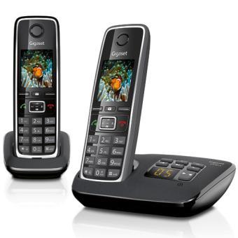 Téléphone fixe SIEMENS GIGASET C530A NOIR DUO AVEC REPONDEUR