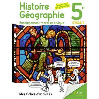 Mon cahier d'Histoire géographie EMC 5ème - broché - Collectif - Achat Livre | fnac