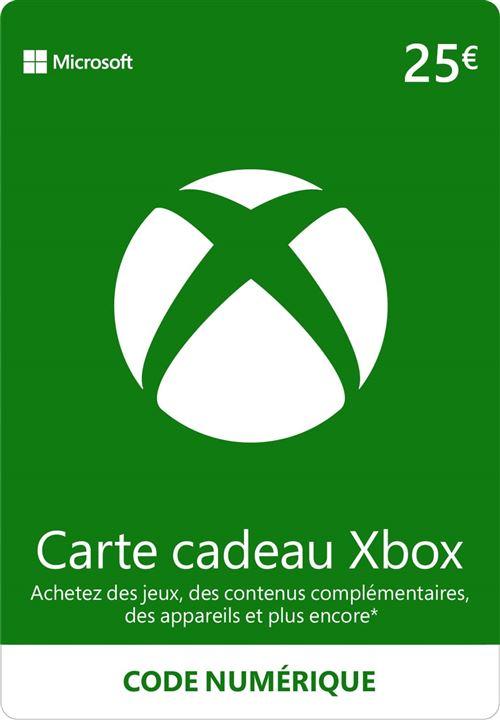 Code de téléchargement Xbox Live e-carte cadeau monnaie virtuelle 25