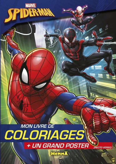 Ultimate Spider-Man - Avec 1 grand poster : Marvel Spider-Man Mon livre de coloriages + un grand poster