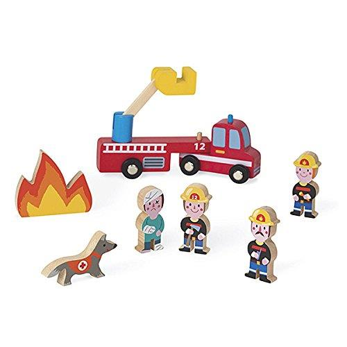 Figurines en bois Janod Mini Story Pompiers