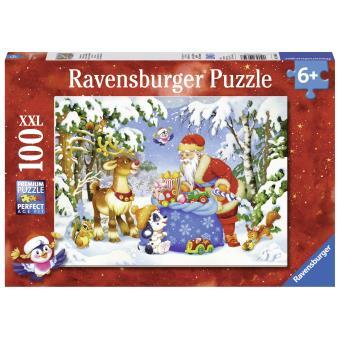 noel 2018 ravensburger Puzzle 100 pièces La hotte du Père Noël Edition Noël Ravensburger  noel 2018 ravensburger