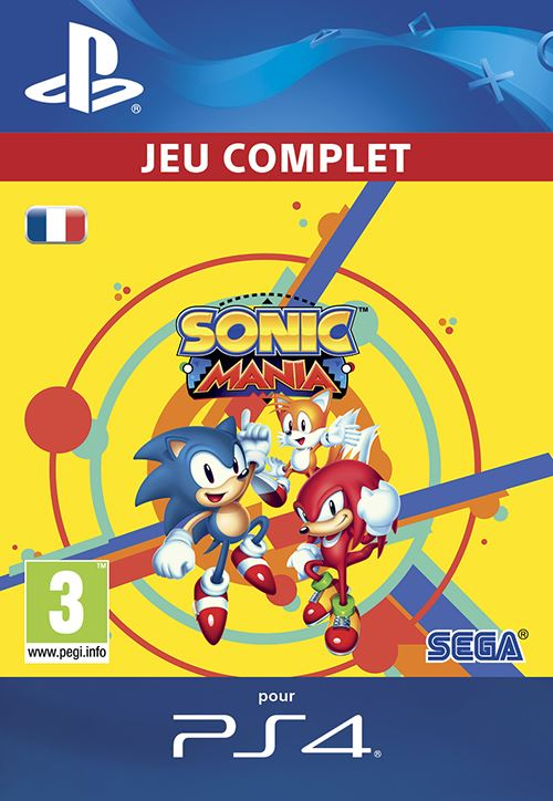 Sonic Mania PS4 code de téléchargement