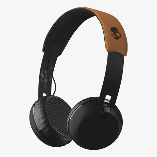 Casque audio Skullcandy Grind Bluetooth Noir et Camel