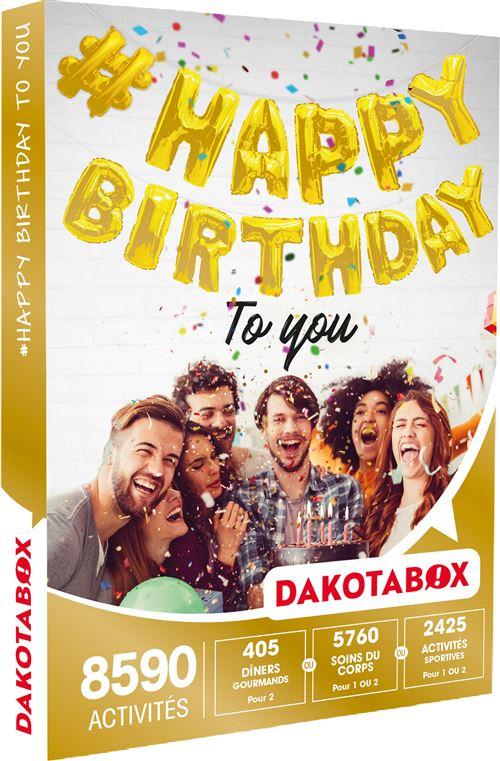 Coffret cadeau Dakotabox #Happy Birthday to you