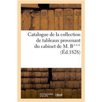 Catalogue de la collection de tableaux provenant du cabinet de M. B***, Vente 21 mai 1828 -