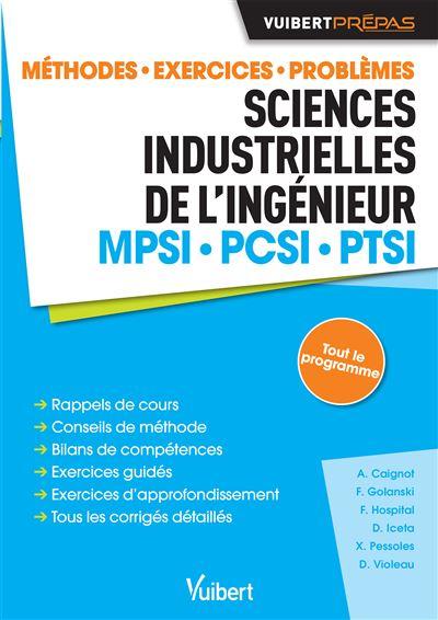 Sciences industrielles de l'ingénieur MPSI-PCSI-PTSI