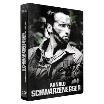 Coffret Arnold Schwarzenegger Coffret 5 DVD Edition Limitée Steelbook