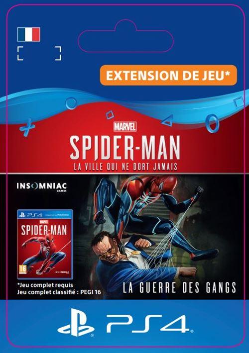 Code de téléchargement Marvel's Spider-Man La guerre des gangs PS4