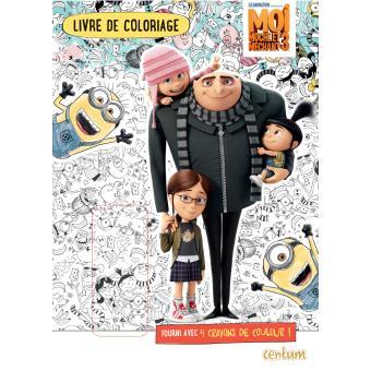 Moi moche et m chant livre de coloriage avec 4 crayons de couleur moi moche et m chant 3 - Dessin de moi moche et mechant ...