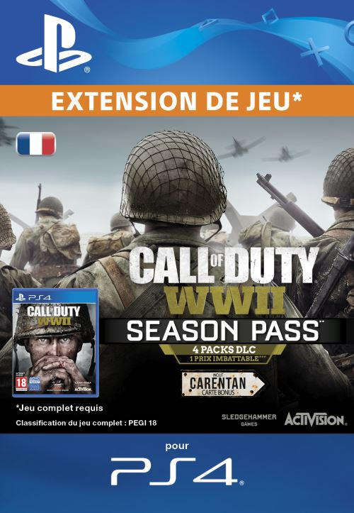 Code de téléchargement Call of Duty WWII Season Pass PS4