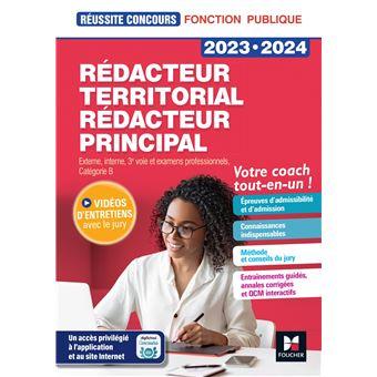 5936bac7958 Réussite Concours - Rédacteur territorial Rédacteur principal - 2019-2020 -  Préparation complète