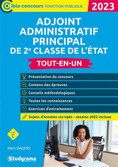 Adjoint administratif principal de 2e classe de l'état 2020