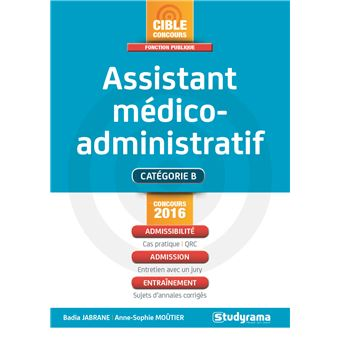 concours assistant medico administratif