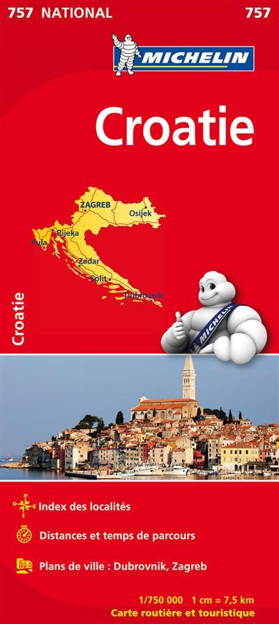 Carte Crete Croatie.Carte Croatie Michelin