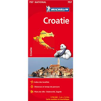 Carte Croatie Michelin 1/750000   broché   Collectif Michelin