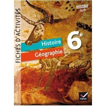 Histoire Geographie 6e Ed 2016 Fiches D Activites
