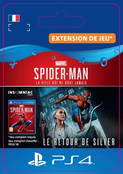 Code de téléchargement Marvel's Spider-Man Le retour de Silver PS4
